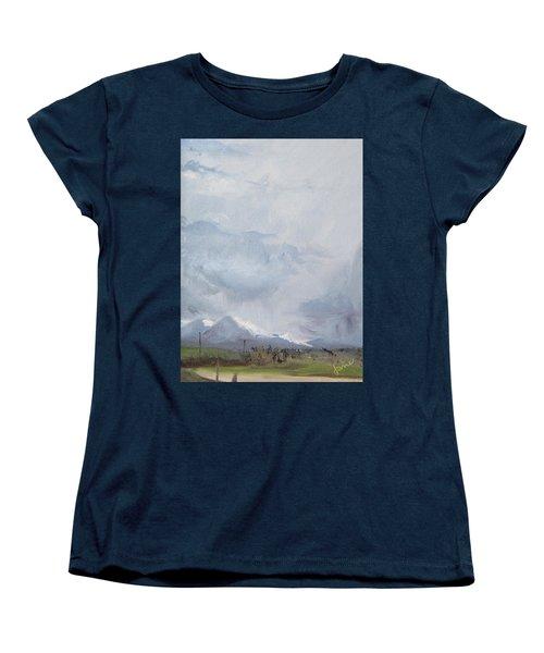 Grantsville Skies Women's T-Shirt (Standard Cut) by Jane Autry