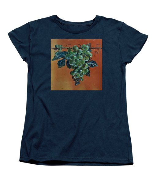 Women's T-Shirt (Standard Cut) featuring the ceramic art Grape by Andrew Drozdowicz