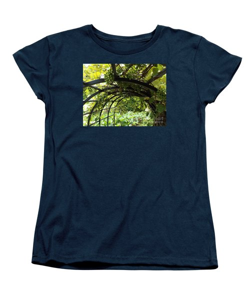 Grape Tunnel Women's T-Shirt (Standard Cut) by Erick Schmidt