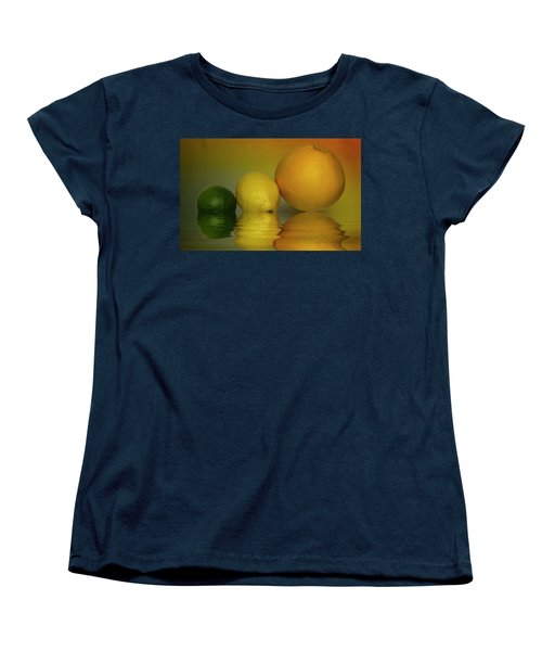 Women's T-Shirt (Standard Cut) featuring the photograph Grapefruit Lemon And Lime Citrus Fruit by David French