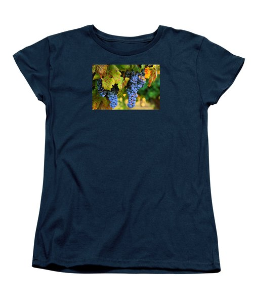 Women's T-Shirt (Standard Cut) featuring the photograph Grapes Grapes Grapes by Lynn Hopwood