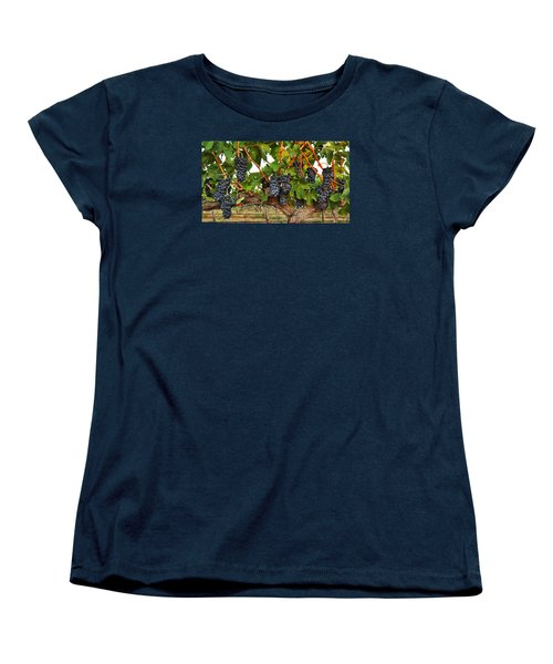 Women's T-Shirt (Standard Cut) featuring the photograph Grapes Of The Yakima Valley by Lynn Hopwood