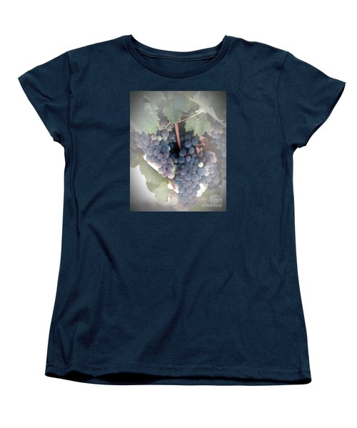 Grapes On The Vine I Women's T-Shirt (Standard Cut) by Sherry Hallemeier