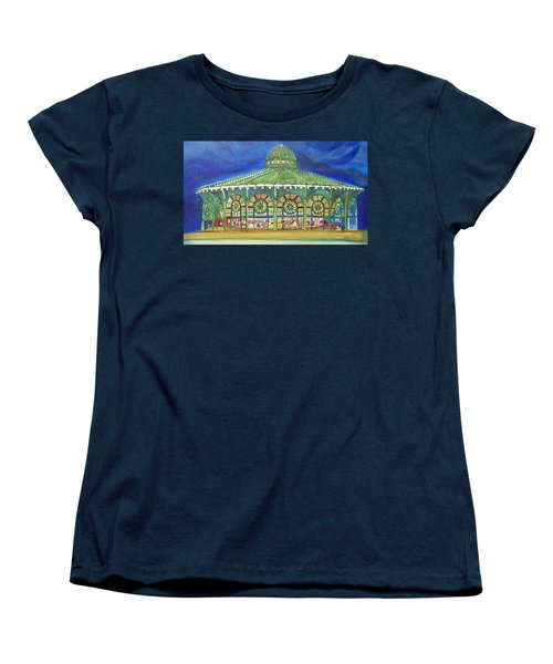 Women's T-Shirt (Standard Cut) featuring the painting Grasping The Memories by Patricia Arroyo