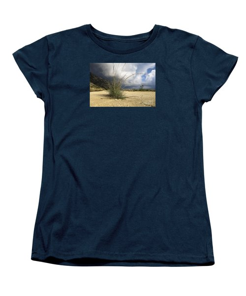 Grass Growing Out Of Crack In Tarmac Women's T-Shirt (Standard Cut) by Perry Van Munster