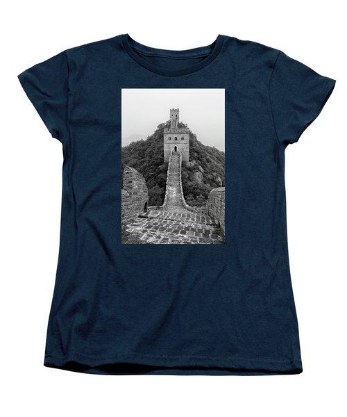 Women's T-Shirt (Standard Cut) featuring the photograph Great Wall 1, Jinshanling, 2016 by Hitendra SINKAR