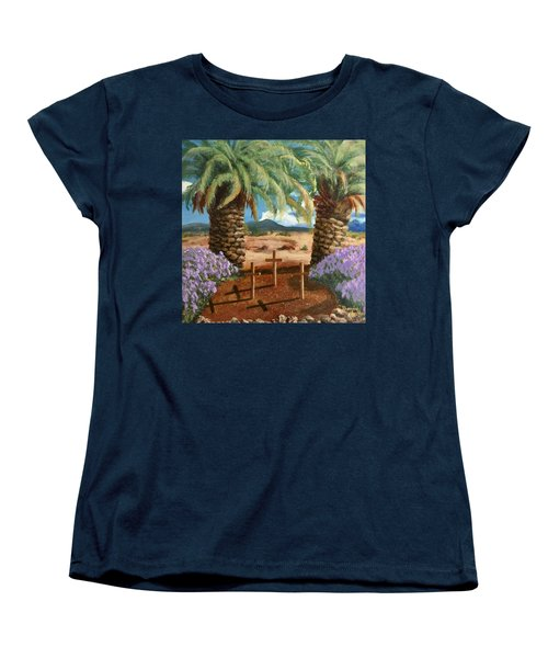 Women's T-Shirt (Standard Cut) featuring the painting Gratitude Reminder  by Bonnie Heather