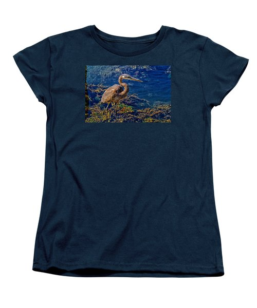 Great Blue Heron And Seaweed Women's T-Shirt (Standard Cut) by Constantine Gregory