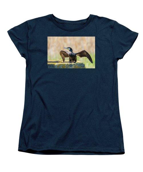 Great Cormorant - Phalacrocorax Carbo Women's T-Shirt (Standard Cut) by Jivko Nakev
