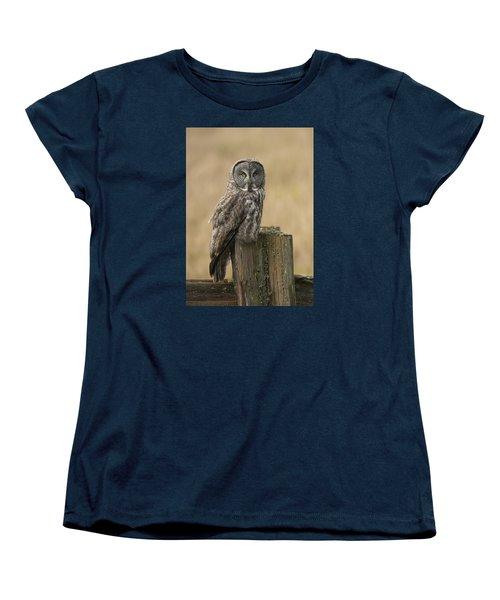 Great Gray Owl Women's T-Shirt (Standard Cut) by Doug Herr