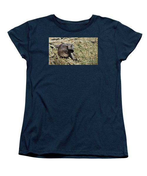 Great Grey Flying Women's T-Shirt (Standard Cut) by Torbjorn Swenelius
