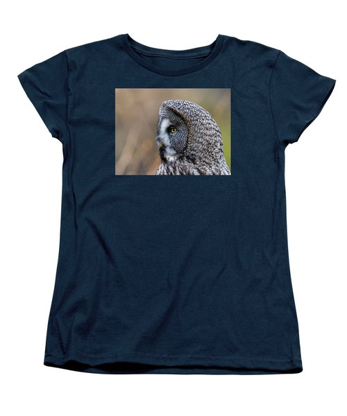 Great Grey's Profile A Closeup Women's T-Shirt (Standard Cut) by Torbjorn Swenelius