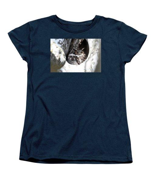 Great Horned Owl Nest Women's T-Shirt (Standard Cut) by Gary Wightman