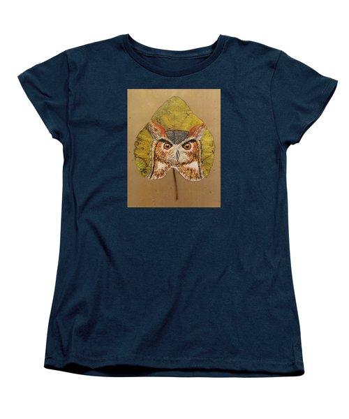 Great Horned Owl Women's T-Shirt (Standard Cut) by Ralph Root