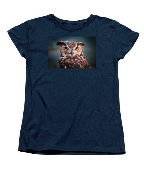 Great Horned Owl Women's T-Shirt (Standard Cut) by Ralph Vazquez