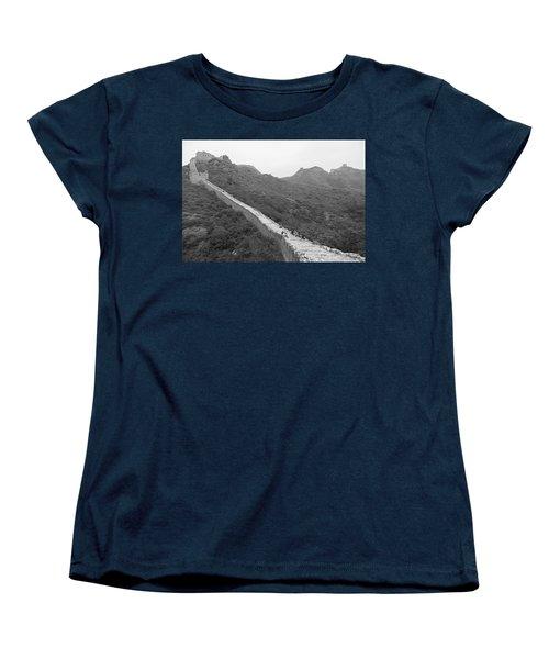 Women's T-Shirt (Standard Cut) featuring the photograph Great Wall 4, Jinshanling, 2016 by Hitendra SINKAR