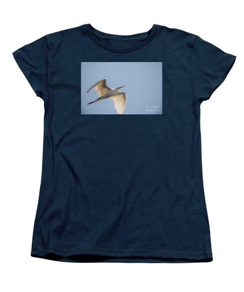 Women's T-Shirt (Standard Cut) featuring the photograph Great White Egret - 2 by David Bearden
