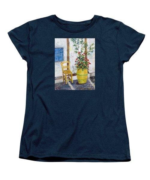 Greek Chair Women's T-Shirt (Standard Cut) by Lou Ann Bagnall