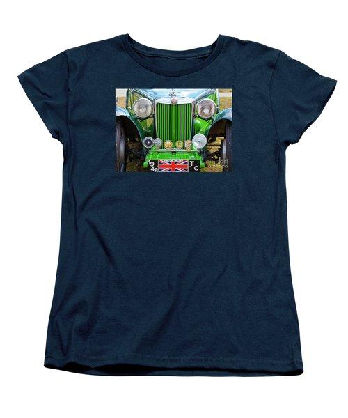 Women's T-Shirt (Standard Cut) featuring the photograph Green 1948 Mg Tc by Chris Dutton