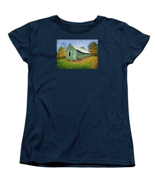 Women's T-Shirt (Standard Cut) featuring the photograph Green Barn by Marion Johnson