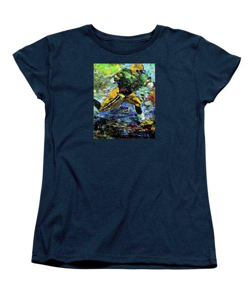 Women's T-Shirt (Standard Cut) featuring the digital art Green Bay Packers by Walter Fahmy