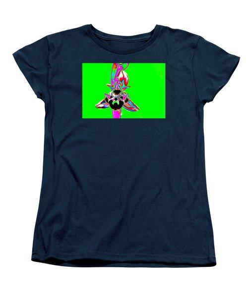 Green Bee Orchid Women's T-Shirt (Standard Cut) by Richard Patmore