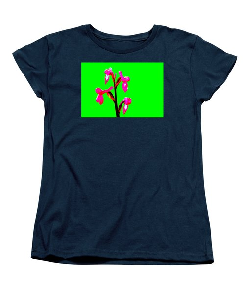 Green Champagne Orchid Women's T-Shirt (Standard Cut) by Richard Patmore