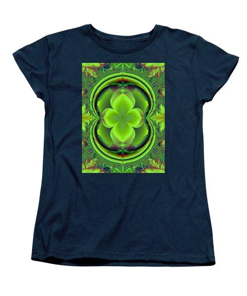 Green Clover Women's T-Shirt (Standard Cut) by Svetlana Nikolova