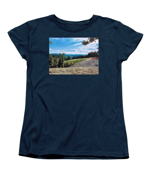 Women's T-Shirt (Standard Cut) featuring the painting Green Country by Joshua Martin