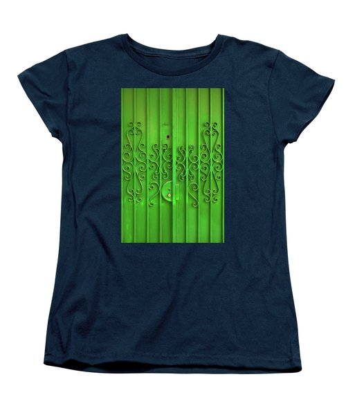 Women's T-Shirt (Standard Cut) featuring the photograph Green Door by Carlos Caetano
