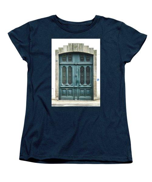 Green Door Women's T-Shirt (Standard Cut) by Helen Northcott