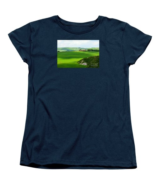 Green Escape In Tuscany Women's T-Shirt (Standard Cut) by Ramona Matei