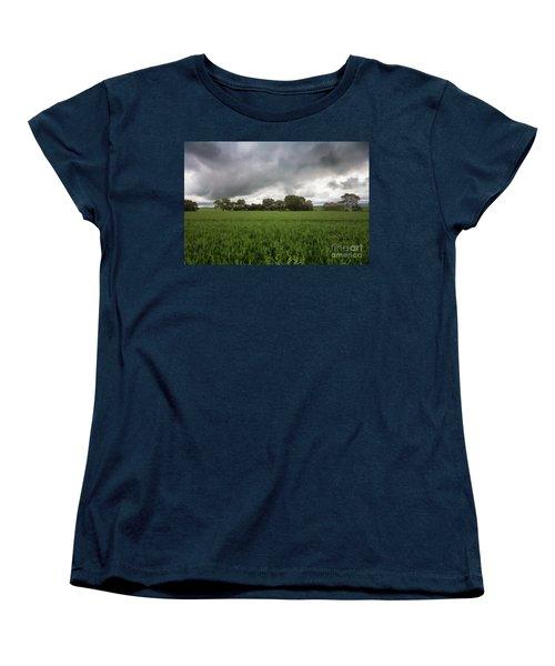 Women's T-Shirt (Standard Cut) featuring the photograph Green Fields 5 by Douglas Barnard
