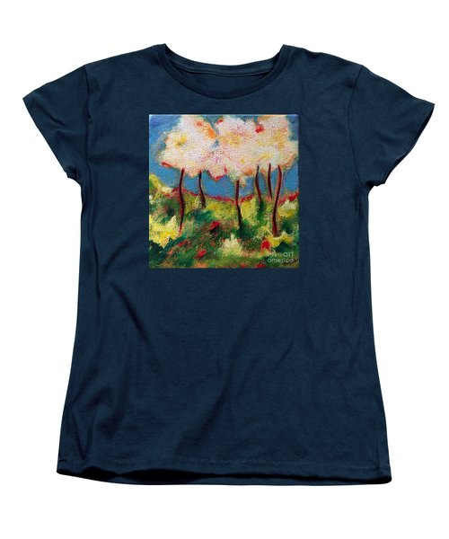 Green Glade Women's T-Shirt (Standard Cut) by Elizabeth Fontaine-Barr