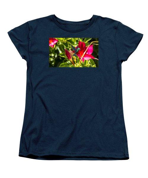 Green Hummingbird Women's T-Shirt (Standard Cut) by Pat Cook