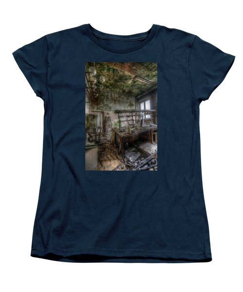 Women's T-Shirt (Standard Cut) featuring the digital art Green Lab by Nathan Wright