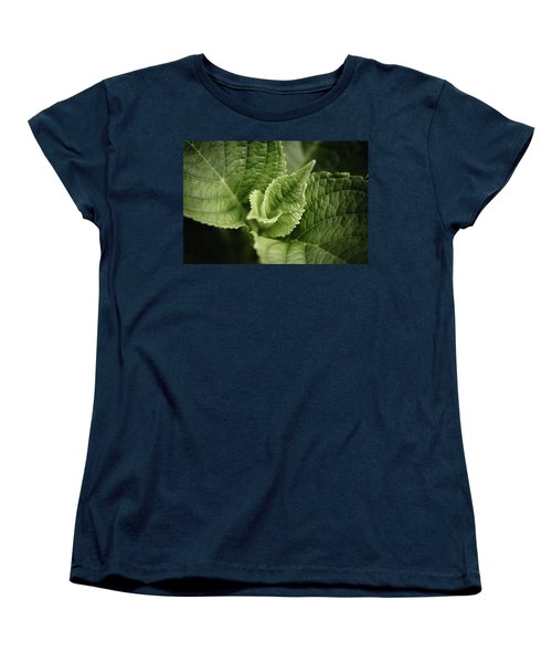 Women's T-Shirt (Standard Cut) featuring the photograph Green Leaves Abstract II by Marco Oliveira