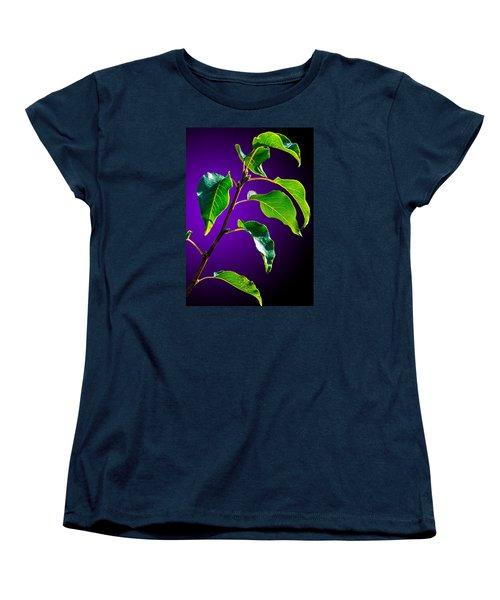 Green Leaves Women's T-Shirt (Standard Cut) by Brian Stevens