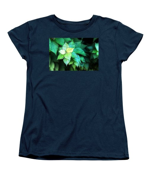 Green Leaves Women's T-Shirt (Standard Cut) by Carol Crisafi