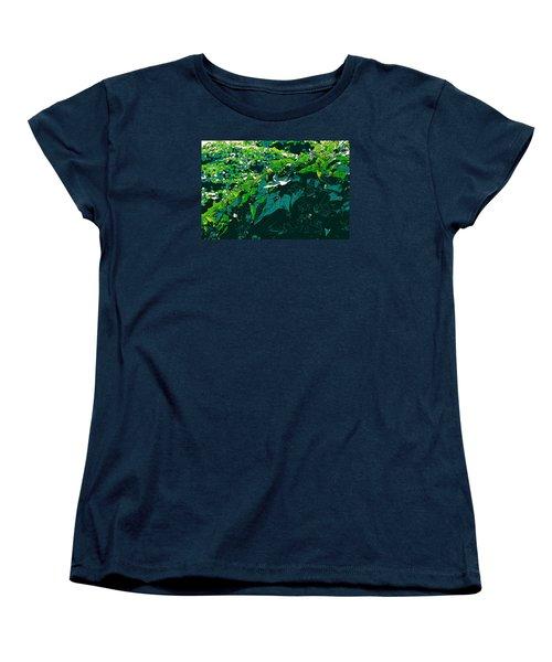 Green Leaves Women's T-Shirt (Standard Cut) by John Rossman