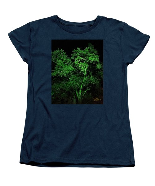 Women's T-Shirt (Standard Cut) featuring the digital art Green Magic by Doug Kreuger