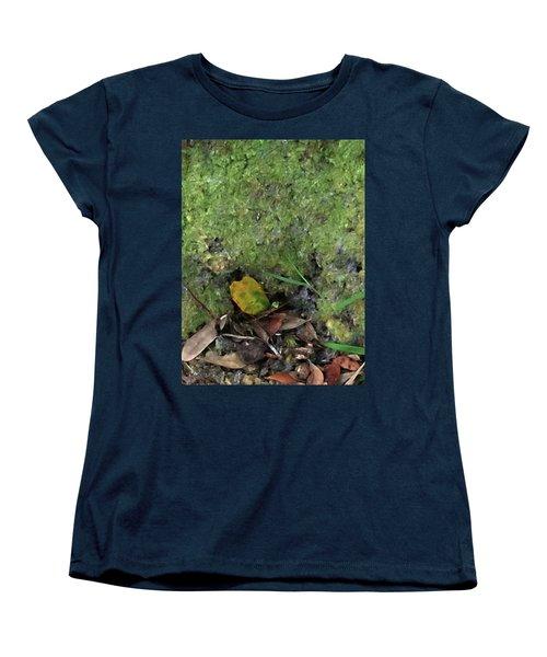 Green Man Spirit Photo Women's T-Shirt (Standard Cut) by Gina O'Brien