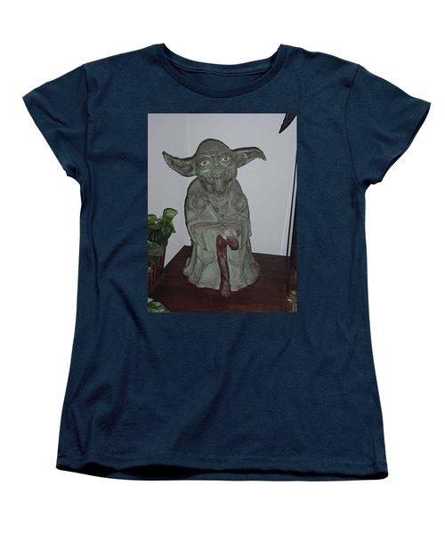 Green Man Women's T-Shirt (Standard Cut) by Val Oconnor