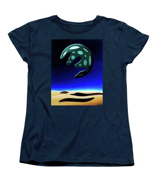 Green Moon Rising Women's T-Shirt (Standard Cut)