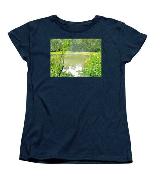 Green On Lake Women's T-Shirt (Standard Cut) by Craig Walters