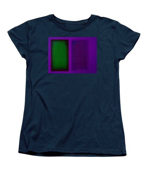 Green On Magenta Women's T-Shirt (Standard Cut) by Charles Stuart