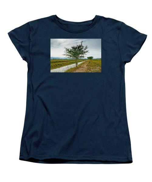 Women's T-Shirt (Standard Cut) featuring the photograph Green Tree by Arik S Mintorogo