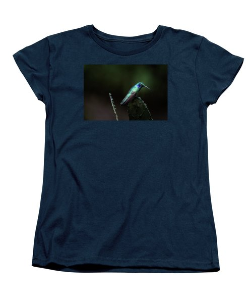 Green Violet Ear Hummingbird Women's T-Shirt (Standard Cut) by James David Phenicie