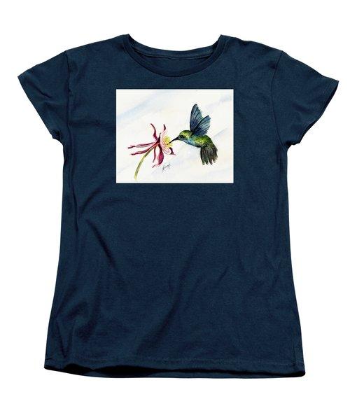 Green Violet-ear Hummingbird Women's T-Shirt (Standard Cut) by Sam Sidders