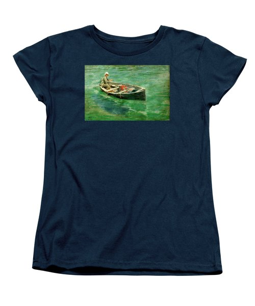 Women's T-Shirt (Standard Cut) featuring the painting Green Waters by Henry Scott Tuke